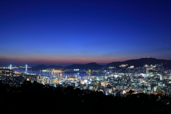 Night View from Kazagashira Park