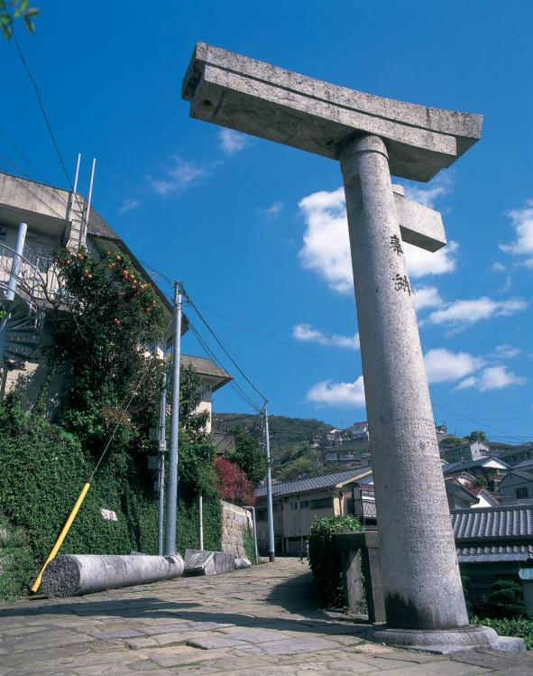 One-Legged Torii of Sanno Shrine