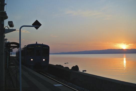 Higashi-Sonogi - Sunset View from Chiwata Station